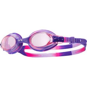 TYR Swimple Tie Dye Lunettes de protection Enfant, violet/rose